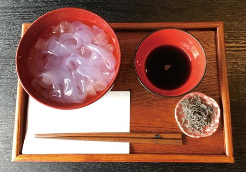 Kudzu-kiri(Cold kudzu starch noodles)