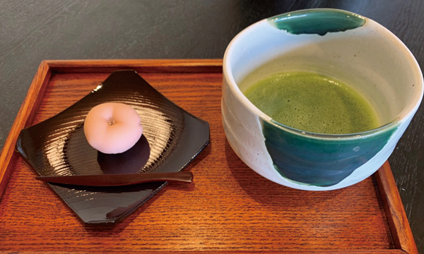Matcha  with high-grade Japanese fresh confections