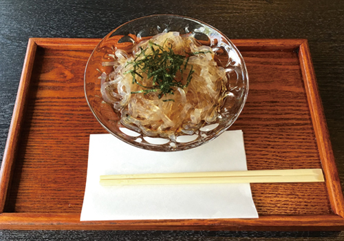 Tokoroten (Gelidium jelly) Dashi soy sauce